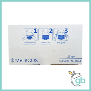 MEDICOS SURGICAL FACE MASK (WHITE BOX)