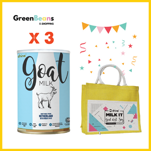 Shine Goat Milk x 3 (+FREE Jute Bag)