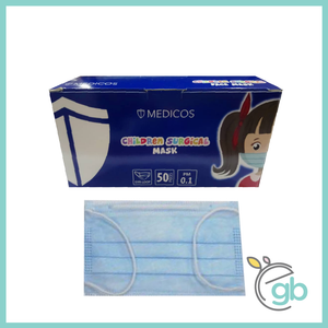 MEDICOS 3-PLY Children Surgical Face Mask (Blue Box)