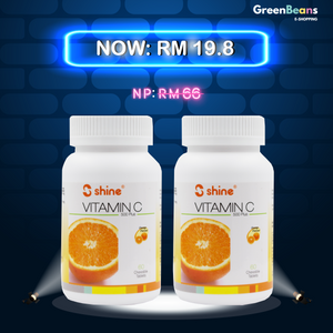 Shine Vitamin C-500 Plus Chewable Tablet (Orange Flavour) (Exp: 04/2020) (Bundle of 2)