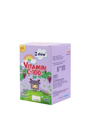 Shine Vitamin C-100 Chewable Tablet (Grape Flavour)
