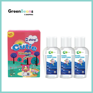 1+3 Combo: Shine Cutie Chewable Tablet (Strawberry Flavour) + ProCare Hand Sanitizer 50ml x 3