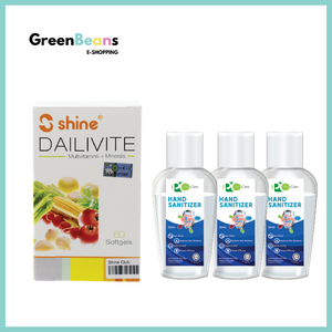1+3 Combo: Shine Dailivite® Multivitamins + Minerals Softgels + ProCare Hand Sanitizer 50ml x 3