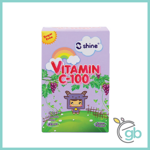 Shine Vitamin C-100 Chewable Tablet (Grape) x 2 + FREE Pencil Case