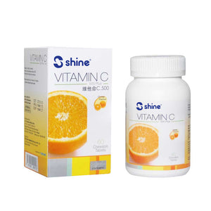 Shine Vitamin C-500 Plus Chewable Tablet (Orange Flavour)