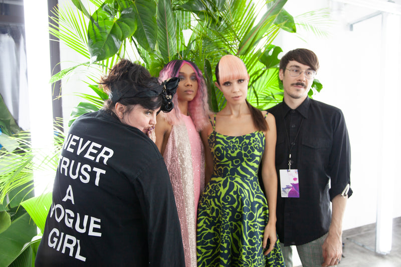 High & Low Alien Ponytails @NYFW for CZAR