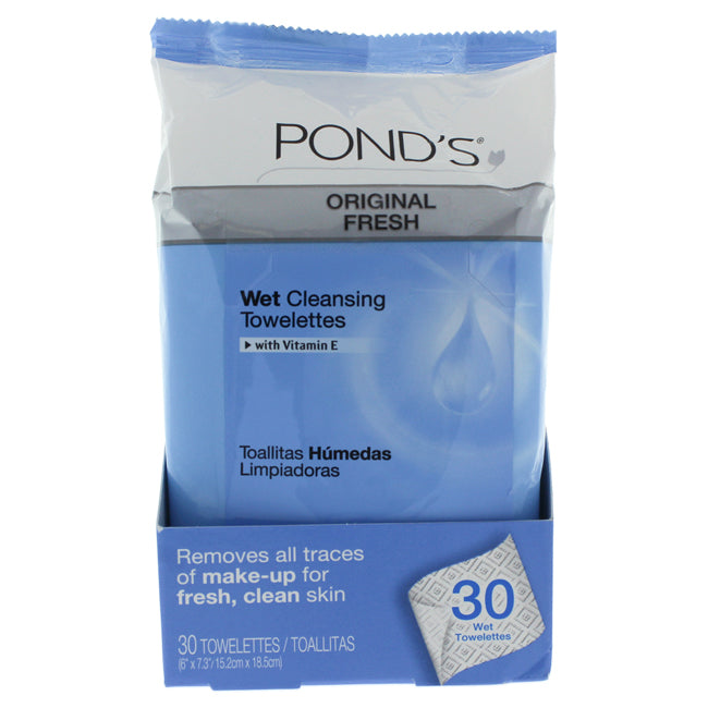 Original Clean Wet Cleansing Towelettes by Ponds for Unisex 30pcs