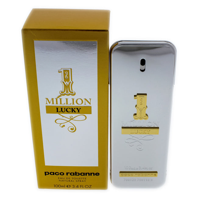 1 Million Lucky by Paco Rabanne EDT Spray for Men 3.4oz