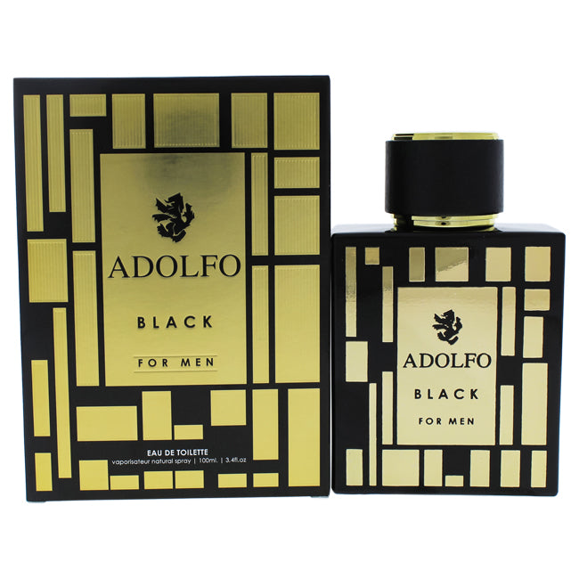 U Black by Adolfo Dominguez EDT Spray for Men 3.4oz