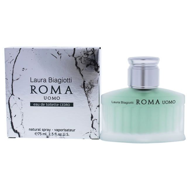 Roma Uomo Cedro by Laura Biagiotti EDT Spray for Men 2.5oz