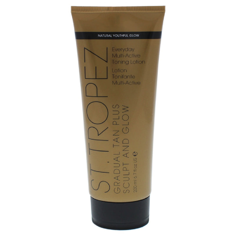 St. Tropez Gradual Tan Plus Sculpt and Glow Everyday Multi-Active Toning Lotion