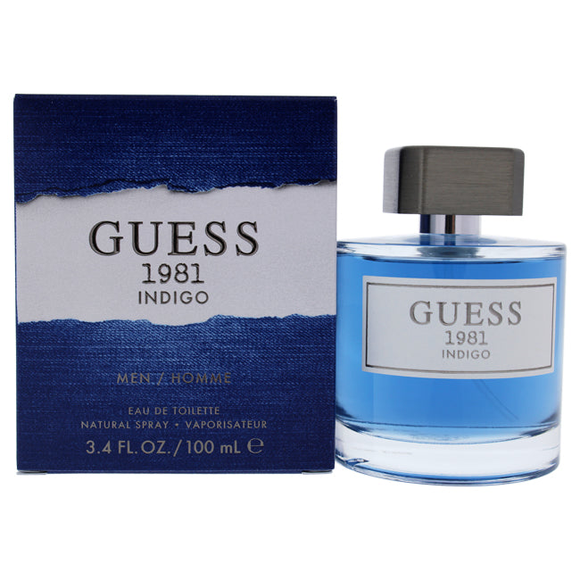 Guess 1981 Indigo by Guess for Men - 3.4 oz EDT Spray