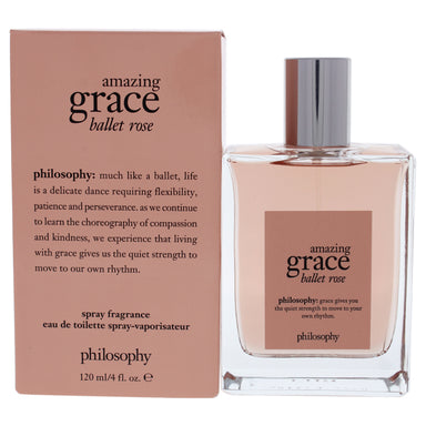 Amazing Grace Ballet Rose by Philosophy for Women - 4 oz EDT Spray