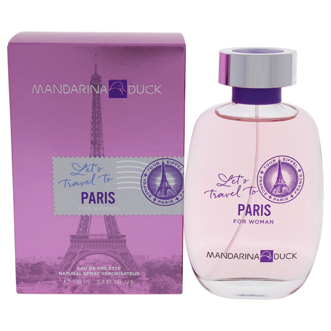 Lets Travel To Paris by Mandarina Duck for Women - 3.4 oz EDT Spray