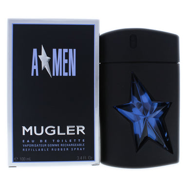 Angel by Thierry Mugler EDT Refillable Rubber Spray for Men 3.4oz