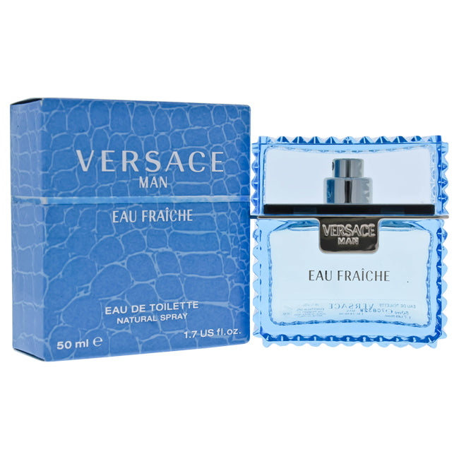 Versace Man Eau Fraiche by Versace EDT Spray for Men 1.7oz