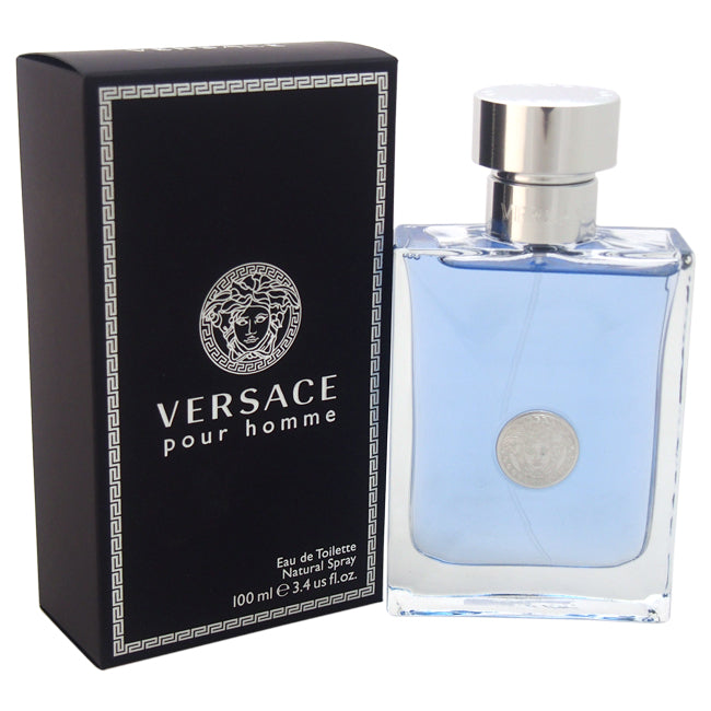 Versace Pour Homme by Versace EDT Spray for Men 3.4oz