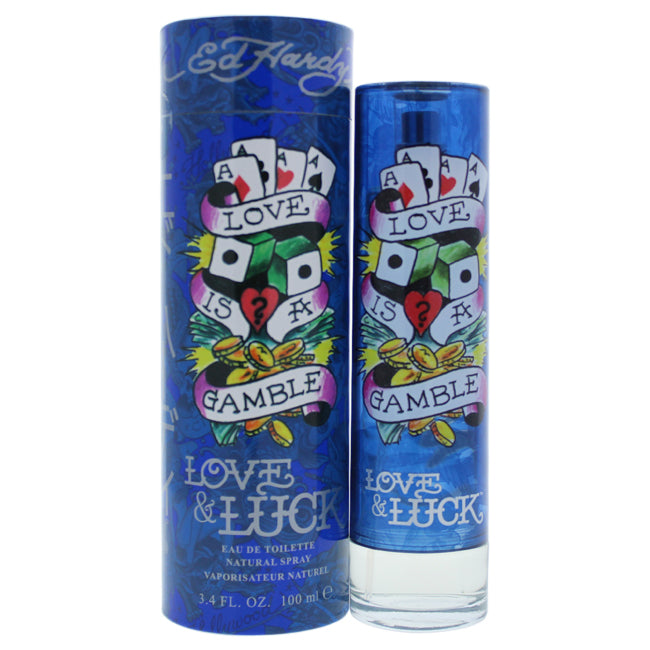 Ed Hardy Love and Luck by Christian Audigier EDT Spray for Men 3.4oz