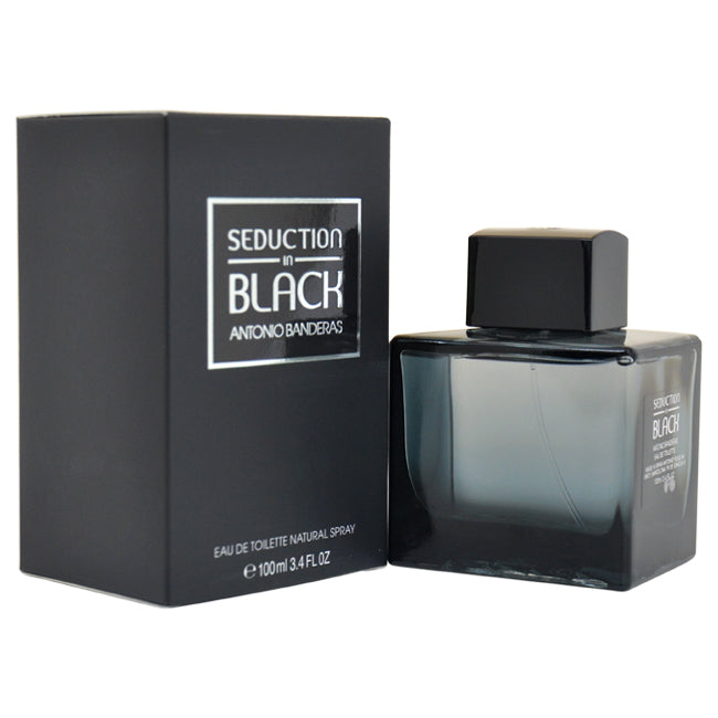 Seduction In Black by Antonio Banderas EDT Spray for Men 3.4oz