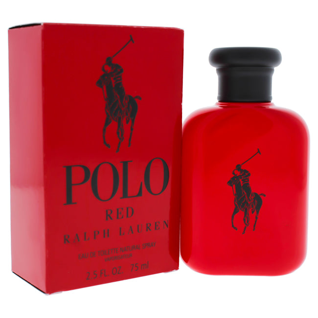 Polo Red by Ralph Lauren EDT Spray for Men 2.5oz