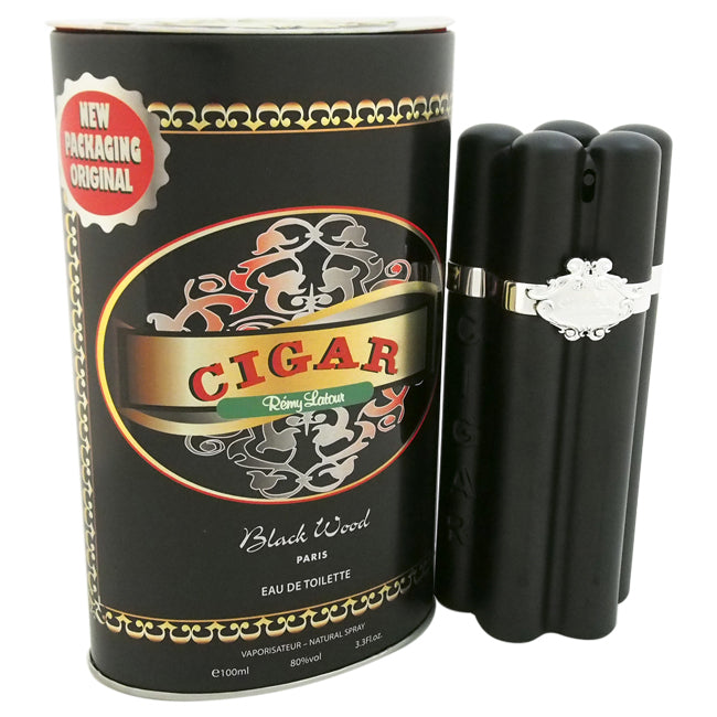 Cigar Black Wood by Remy Latour EDT Spray for Men 3.3oz