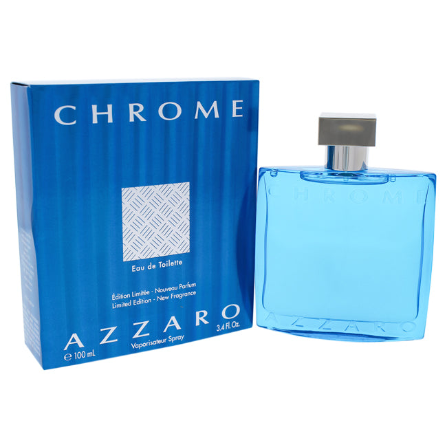 Chrome Limited Edition by Azzaro EDT Spray for Men 3.4oz