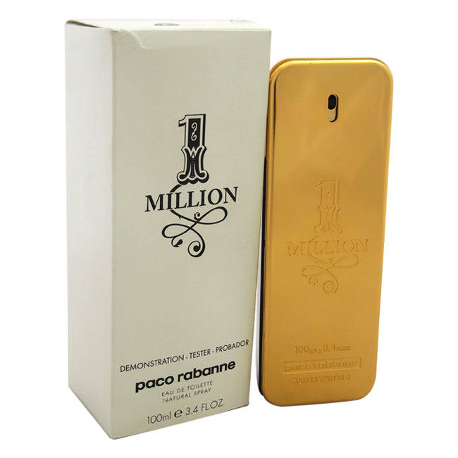 1 Million by Paco Rabanne EDT Spray Tester for Men 3.4oz