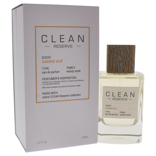 Reserve Sueded Oud by Clean for Unisex - 3.4 oz EDP Spray