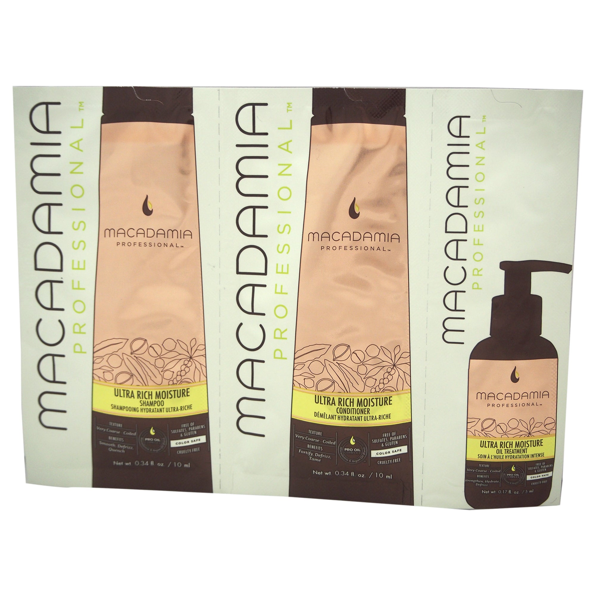 Macadamia Professional Ultra Rich Moisture Shampoo, Conditioner & Oil Treatment