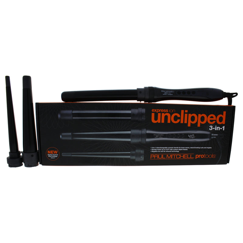 Paul Mitchell Express Ion Unclipped 3in 1 Curling Iron  Model # 31INA  Black