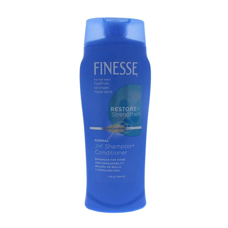 Finesse Restore Strengthen 2 in 1 Shampoo and Conditioner