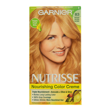 Garnier Garnier Nutrisse Permanent Haircolor, 83 Medium Golden Blonde Cream Soda