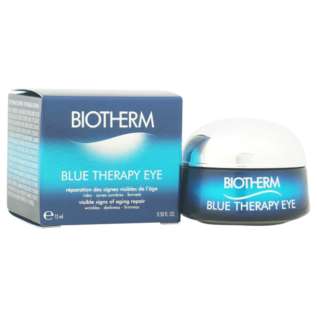 Blue Therapy Eye Visible Signs of Aging Repair by Biotherm for Unisex 0.5oz