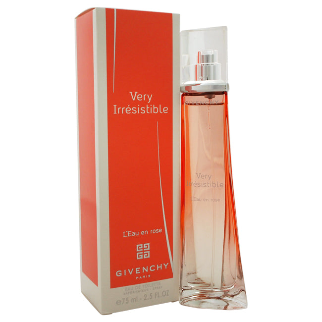 Very Irresistible Leau en Rose by Givenchy EDT Spray for Women 2.5oz