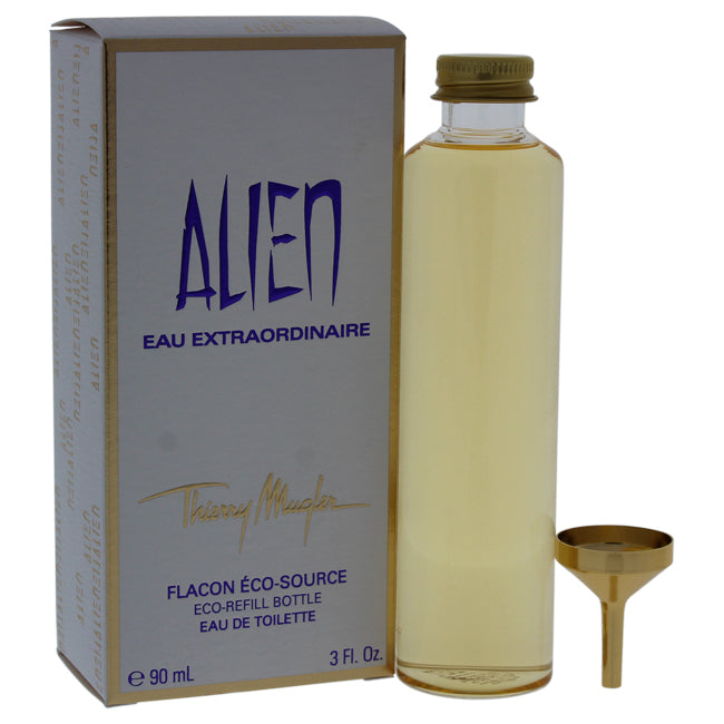 Alien Eau Extraordinaire by Thierry Mugler EDT Splash Eco Refill Bottle for Women 3oz