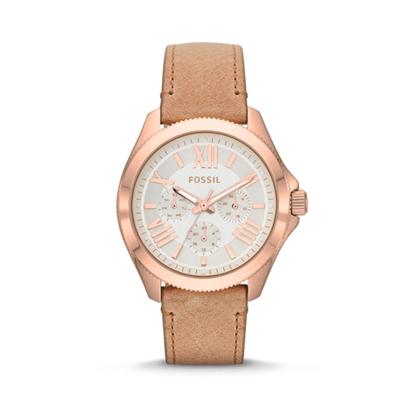 Fossil AM4532P Cecile Multifunction Sand Leather Watch