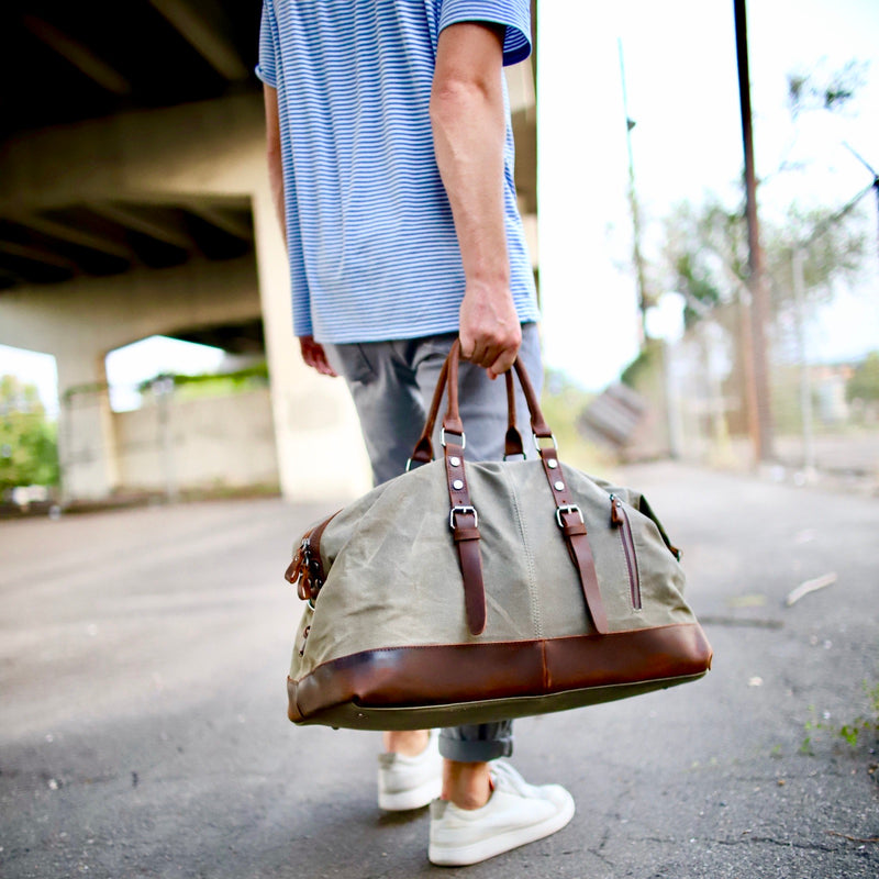 Canvas / Leather Duffel