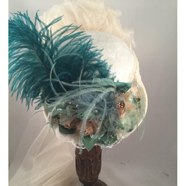 Victorian Small French Hat with French Green-165