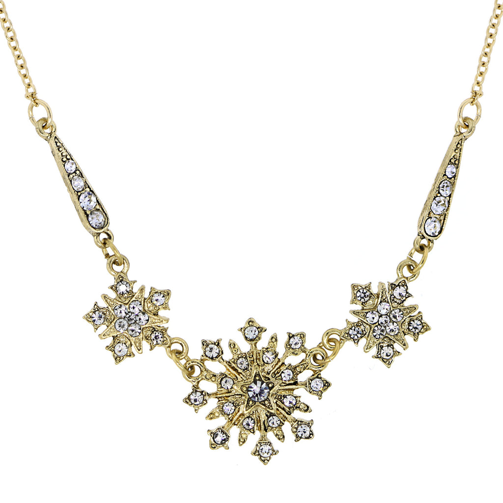 GOLD-TONE CRYSTAL BELLE EPOCH STARBURST STATEMENT NECKLACE 16 ADJ - 17544 - Blanche's Place