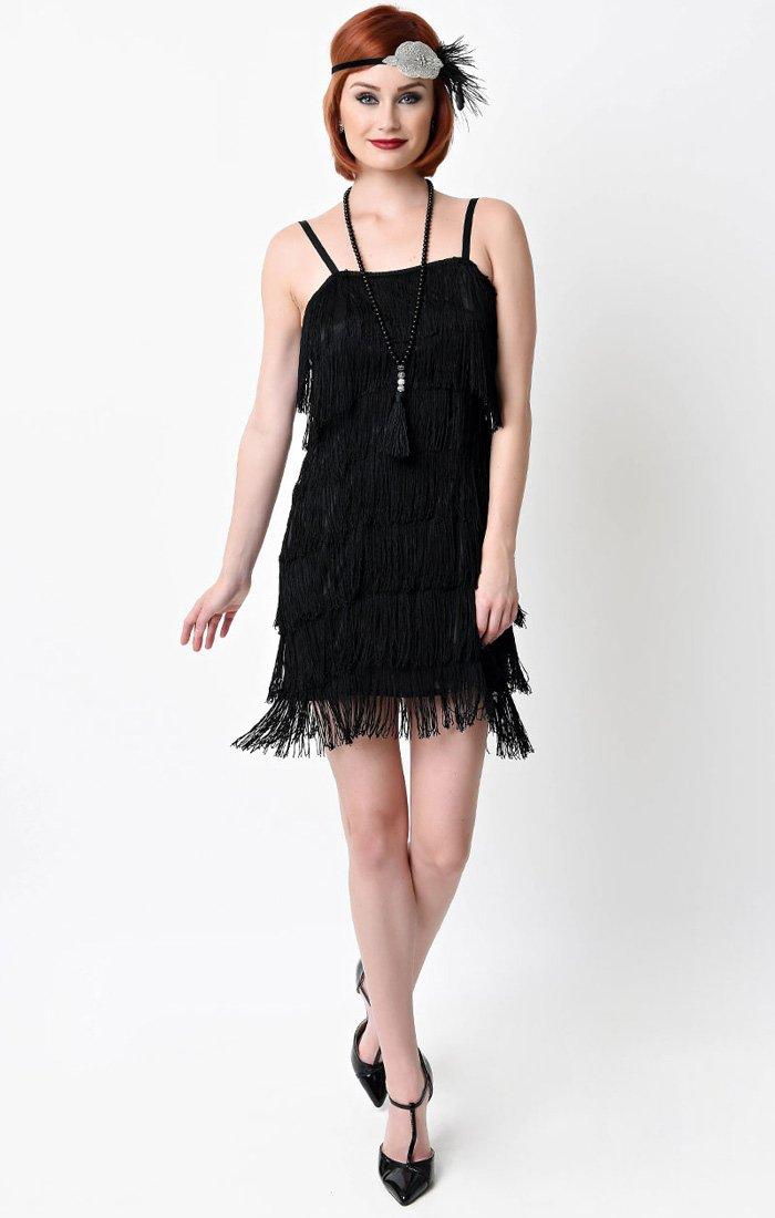 1920's Fringed Flapper Dress-Speakeasy - shop-blanches-place