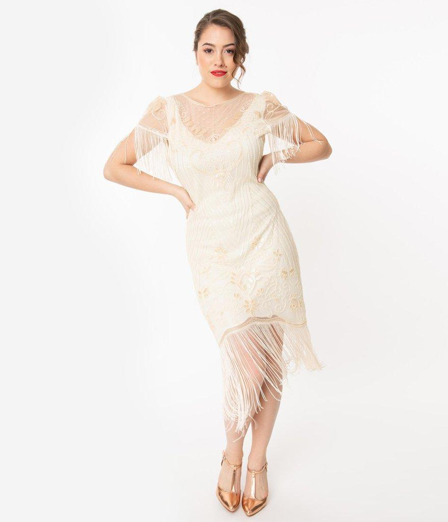 1920's Great Gatsby Inspired Wedding Dress-Nadine