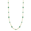 Downton Abbey Inspired Long Chair Necklace with Green Beads-17647
