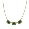 Stunning 1928 Green and Blue Crystal Collar Necklace-48811