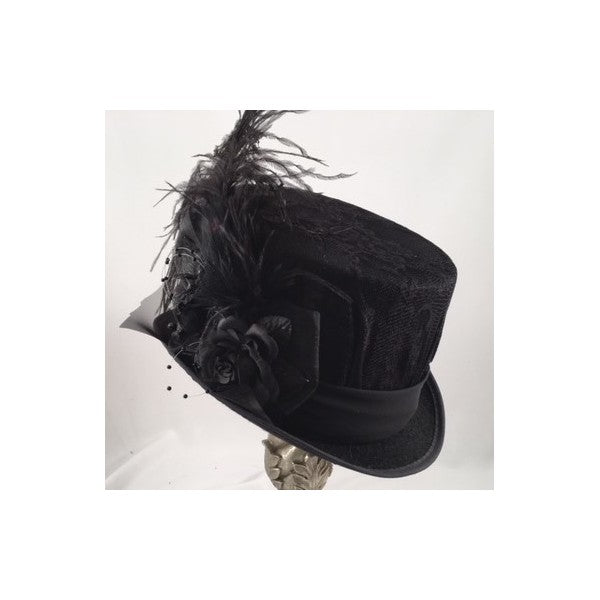 Ladies Black Victorian Lady Mary Riding Hat