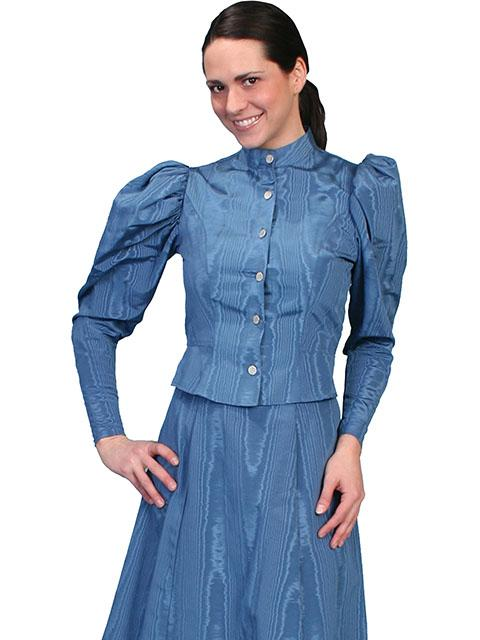 Ladies Wahmaker Old West Victorian Moire Outfit  XL - Blanche's Place