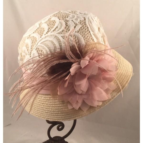 Ladies Vintage Inspired 1920's Cloche Hat-9340 - Blanche's Place