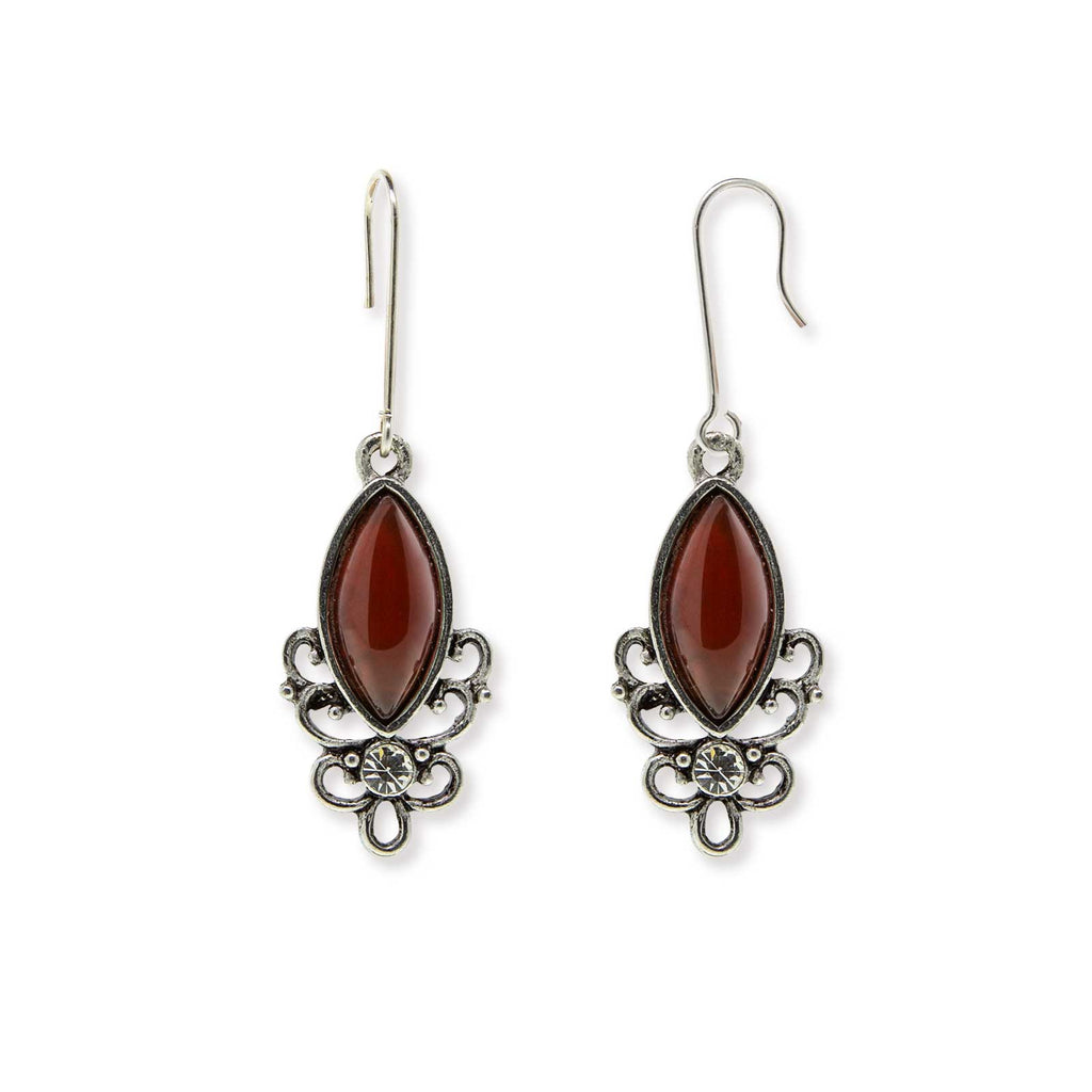 Victorian Sterling Silver Earrings Gemstone Earrings-78300