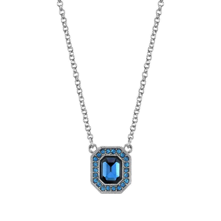 Stunning  1920's Downton Abbey Inspired Sapphire Blue Pendant-18235 - Blanche's Place
