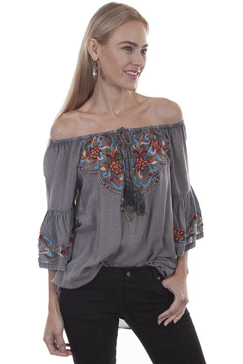 Ladies Honey Creek Embroidered Western Tunic - HC399 - shop-blanches-place