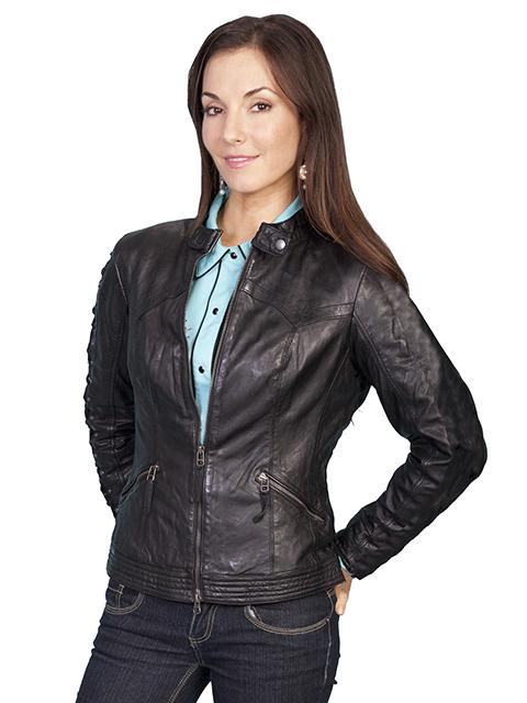 Gorgeous Scully Leather Soft Lamb Skin Western Jacket -L411